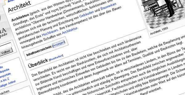 Wikipedia Architekt