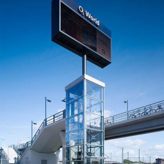 rick jannack o2world arena fahrstuhl sbahn eingang