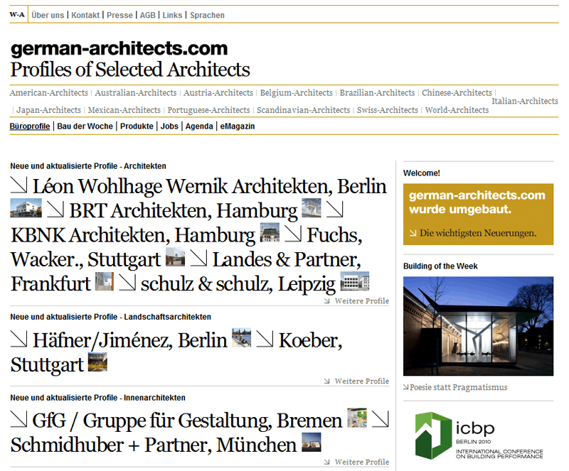 Neue Website von german-architects
