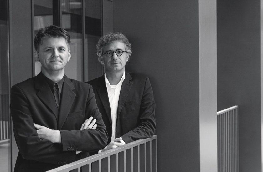 Die Architekten Martin Gruber (links) und Helmut Kleine-Kraneburg (rechts)