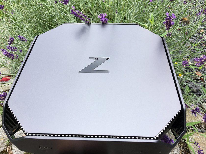 HP Z2 mini von oben