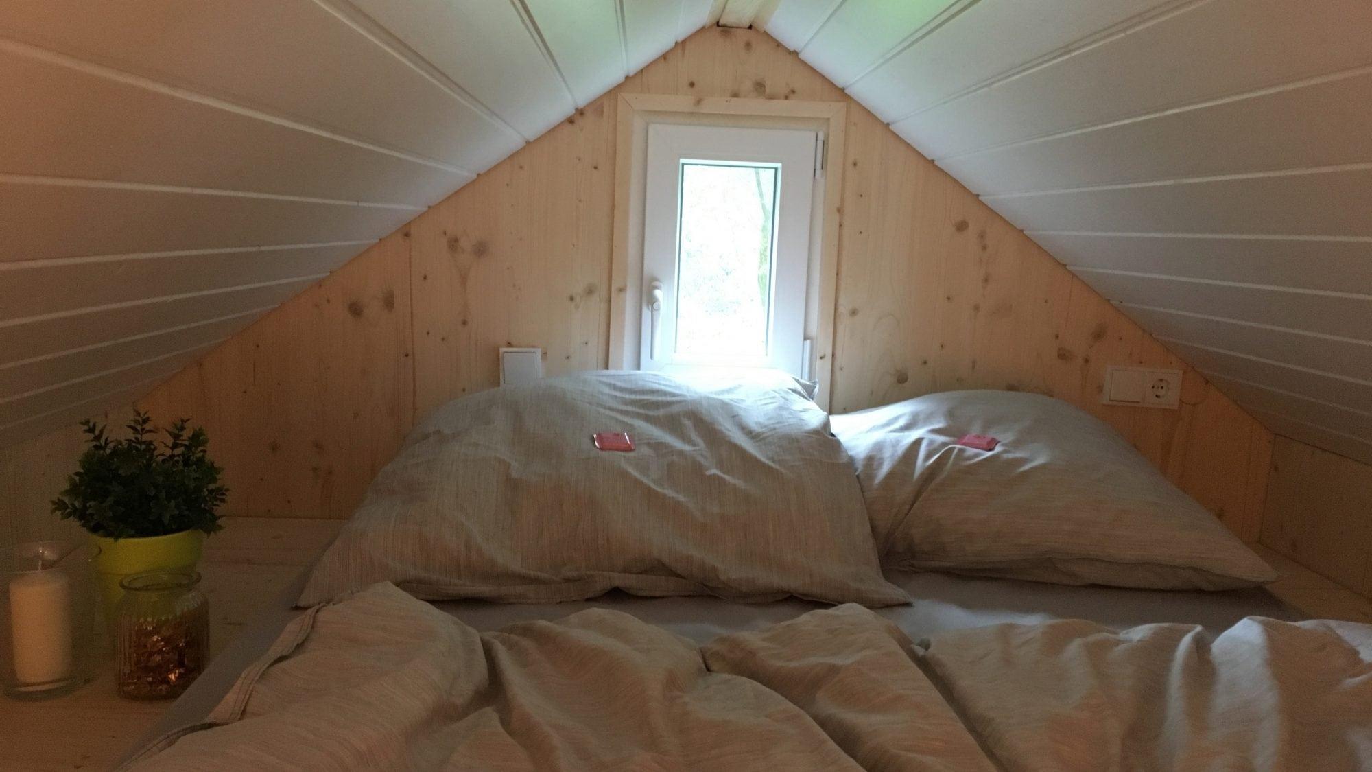 Hochbett im Tiny House Diekmann